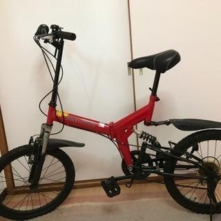 20型Wサスペンション付きスポーツバイク(レッド)