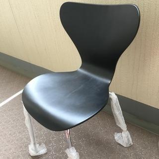美品 カフェ風な椅子 黒×メタル