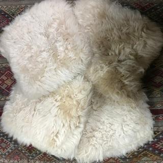 ニュージーランド製 シープスキン 羊毛クッション4個