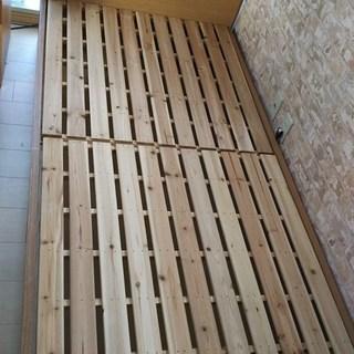 ★天然木 シングルベッド ¥3000【美品】板橋区★