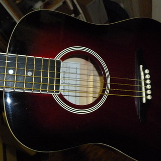 SX ミニアコースティックギター レッドサンバースト 美品