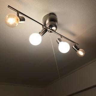 4灯スポットライト シルバー エジソン電球