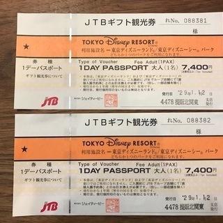 ディズニー パスポート引換券2枚(有効期限:平成30年1月12日)