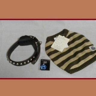 ワンコ用のセーター&チョーカーセット