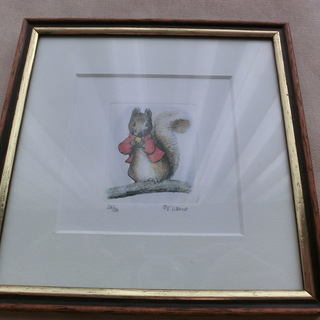 VTG額装ビアトリクス・ポターエッチング26/500 Vintage Sowa&Reiser Beatrix Potter Original Etching Limited Edition Framed Print THE WORLD OF BEATRIX POTTER Sowa&Reiser Original Etching Limited Edition Hand-made in Germany ピーターラビットリス ベアトリス・ポッターvintageの画像