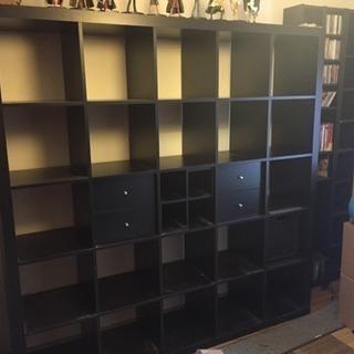 IKEA シェルフユニット ダークブラウン