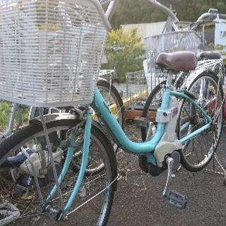 ナショナル電動自転車vivi黄緑?水色?