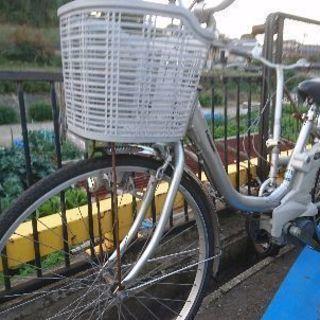 Panasonic電動自転車シルバー