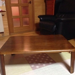 used☆シンプルイズベスト‼︎木製ローテーブル