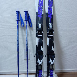 ジュニア スキー板ストックセット 100センチ