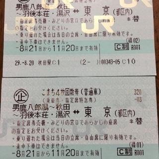 こまち新幹線 乗車券