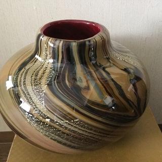 Kamei glass カメイ グラス◆飾り壺?花瓶?◆美しい