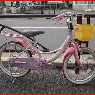 ★リサイクル(再生)自転車・中古自転車・幼児車・18インチ・白/ピンク