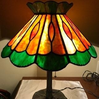 ステンドグラス スタンド ランプ  L