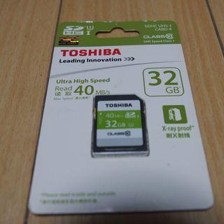 値下げ 東芝SDカード 32GB 新品