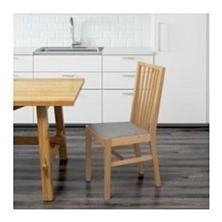 IKEA椅子💞バーチ材天然木製座面グレー布張💞期日限定値引11/16迄