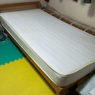 無印 シングルベッド 木製 フレームのみ