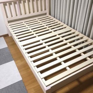 セミダブル 木製ベッドフレーム COCO/ココ ホワイト/白