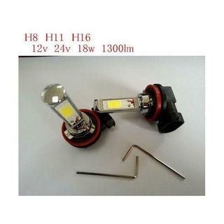 LEDフォグランプ H8 H11 H16 18w 6k 2個セット