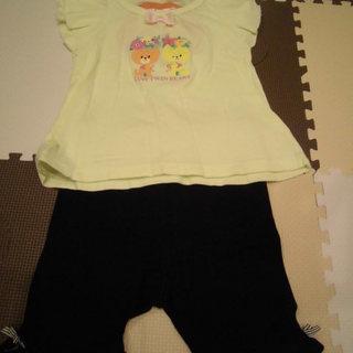 美品! 女の子 90センチ anyFAM パンツ&ルルロロTシャツ...