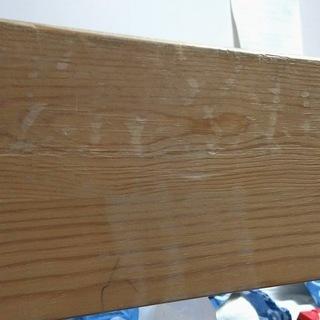 無印パイン材二段ベッド(ベッド下収納付き) - 家具
