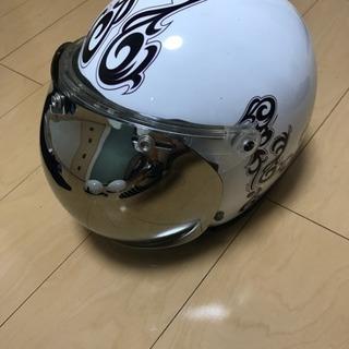ヘルメット 白 トライバル柄 サイズL