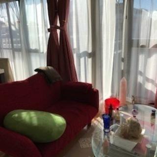 ソファベッド&ガラステーブル