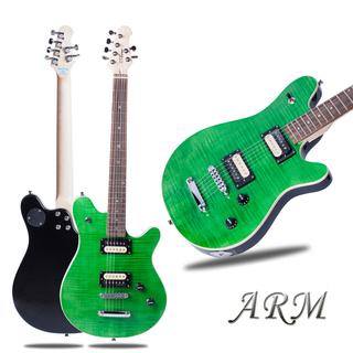 【送料無料】緑色トラ目 エレキギター ARM社製