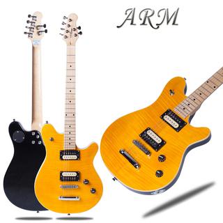 【送料無料】黄色トラ目 エレキギター ARM社製