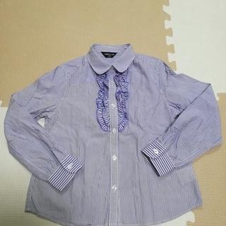 コムサイズム ストライプシャツ 130cm