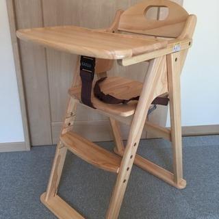 ベビーチェア テーブル付き 木製 KATOJI ハイチェア