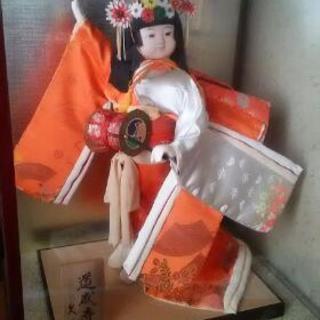 日本人形  ガラスケース付