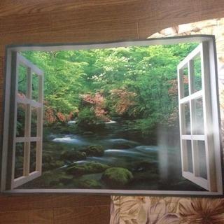 お風呂の窓ポスター ③奥入瀬の渓流