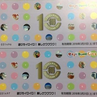 東京ドームシティ 得10チケット×2