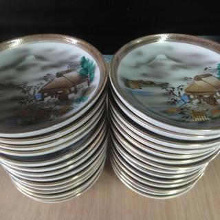 3c244 和皿 小皿 九谷焼 28枚 中古 引取限定