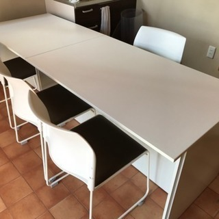 お値下げ☆来客用テーブルと椅子4客セット