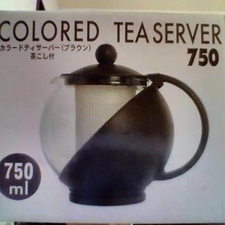 【未使用】カラードティーサーバー 茶こし付 750ml
