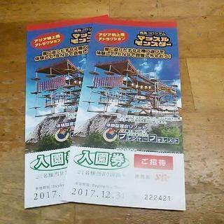 さがみ湖リゾートプレジャーフォレスト入園券2枚¥2000