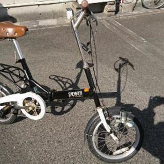 折りたたみ自転車(カギ、空気入れ付き)  5000円