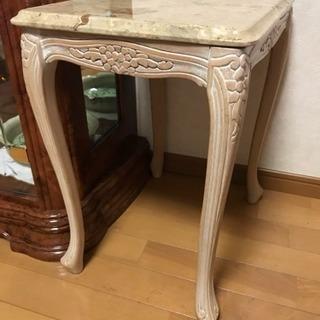 イタリア家具 大理石 サイドテーブル