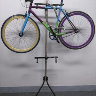 ミノウラ自転車2台ディスプレイラック