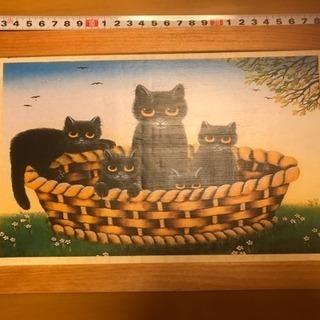 親子ネコのデコパージュです