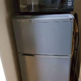 2ドア小型冷蔵庫と電子レンジをセットで