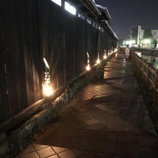 【うずま川の竹あかり 夜の散歩と、舟見茶家の夜ライブ】