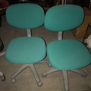 事務用椅子 二脚セット