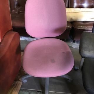 事務用椅子 ピンク