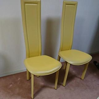 椅子   レザー  (イタリア製)  2脚