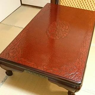 テーブル   鎌倉彫