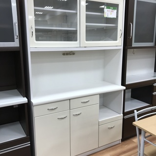 食器棚 引き戸タイプ ホワイト