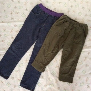 150cm 女の子用ズボン 2つセット